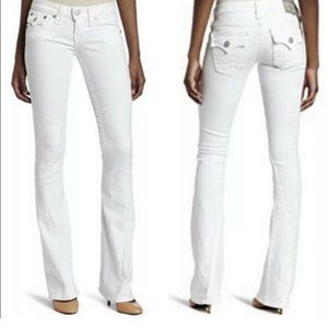 True Religion Becky White Jeans Size 30